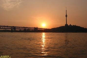夕陽下的武漢美景