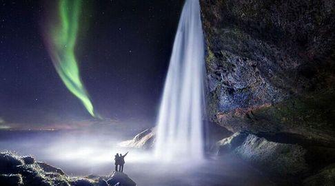 冰岛童话般瀑布美景