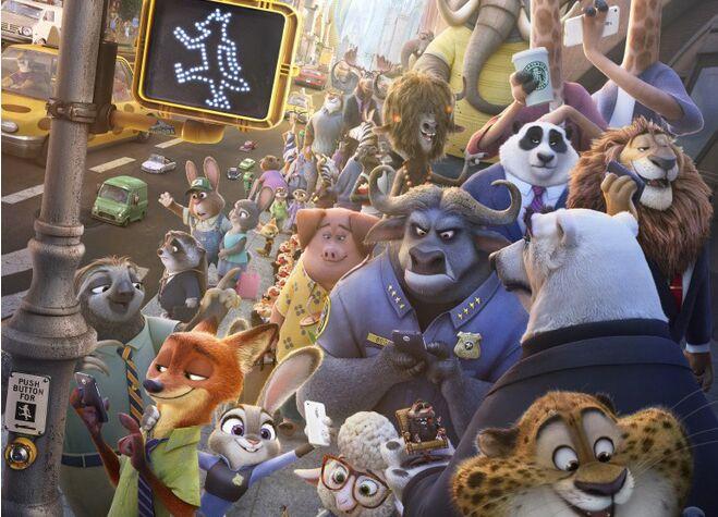 迪士尼动画《疯狂动物城》曝恶搞电影系列海报