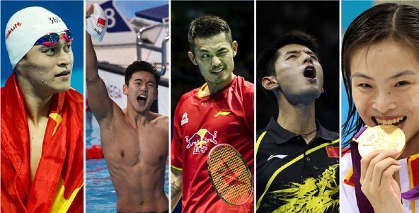里约奥运会中国军团十大名将图片
