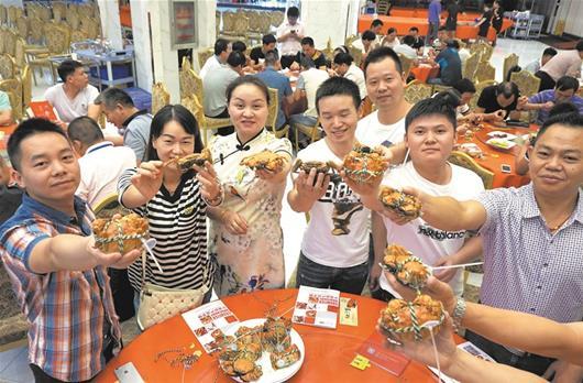 梁子(zi)湖大閘蟹上(shang)市(shi) 價格比往年漲兩三成