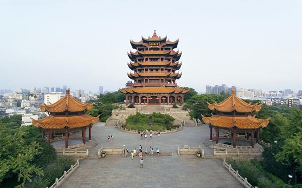 """【""""飛閱""""中國】航拍""""天下江山第一樓""""黃鶴樓"""