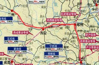 """武漢高鐵""""朋友圈""""進一步擴容 到蘭州最快只7小時"""