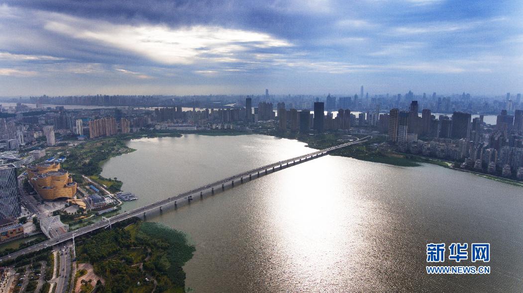 VR視角丨全景航拍武漢沙湖