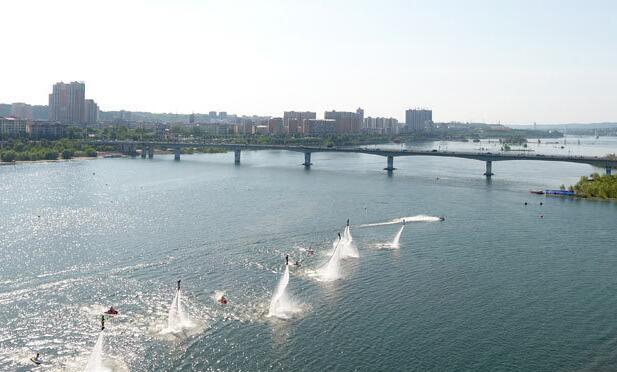 航拍:丹江口亞洲摩托艇公開賽開幕