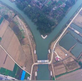 航拍:仙桃通順河推行河湖長制 已清除攔河壩70處