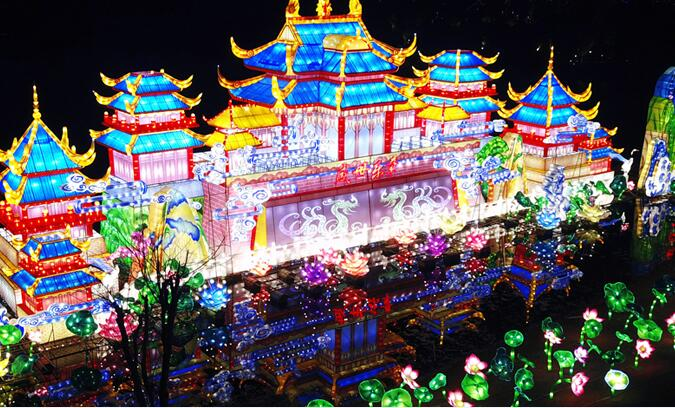武漢園博園花燈鬧新春