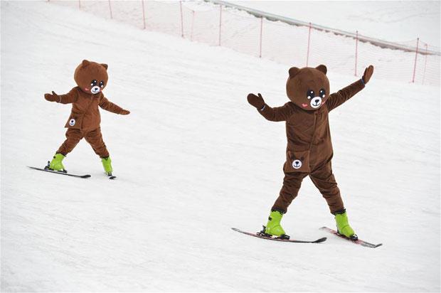 湖北保康:高山滑雪享樂趣