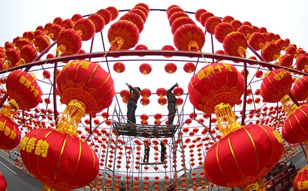 湖北十堰:燈籠高挂迎新年