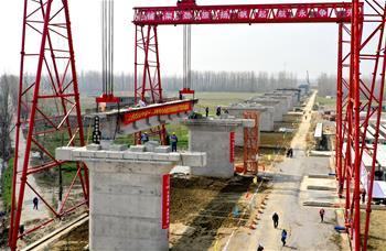 湖北省第五條城際鐵路開始架梁