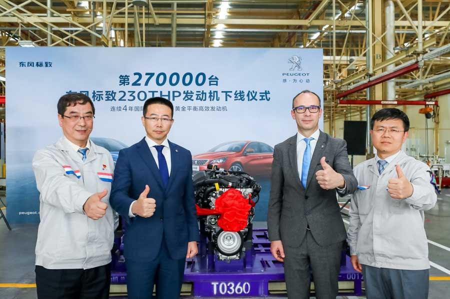 神龍公司第27萬臺230THP發動機下線並返銷歐洲