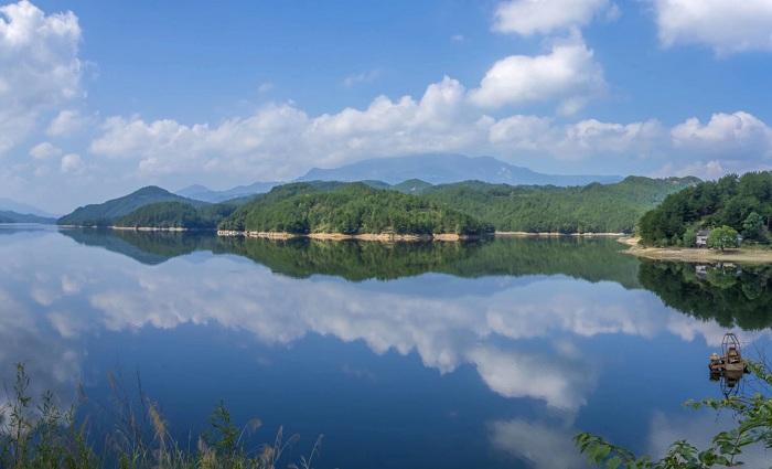 航拍天堂湖國家濕地公園