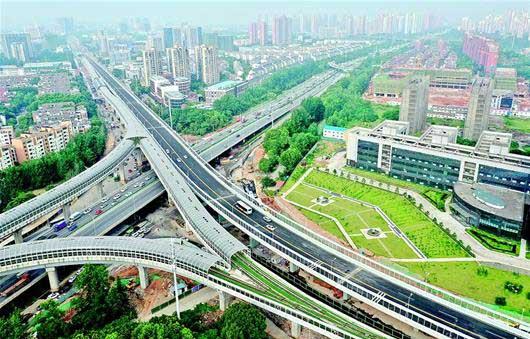 武漢光谷大學園路高架橋通車