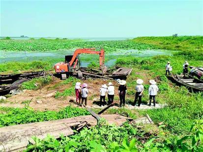 荊州長湖漁船拆解正式啟動