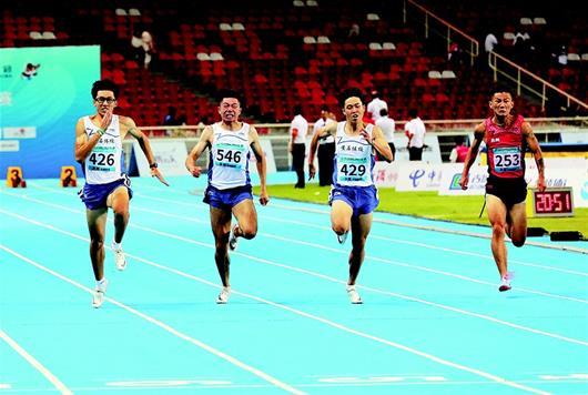 湖北飛人包攬二青會體校組男子百米大戰金銀牌