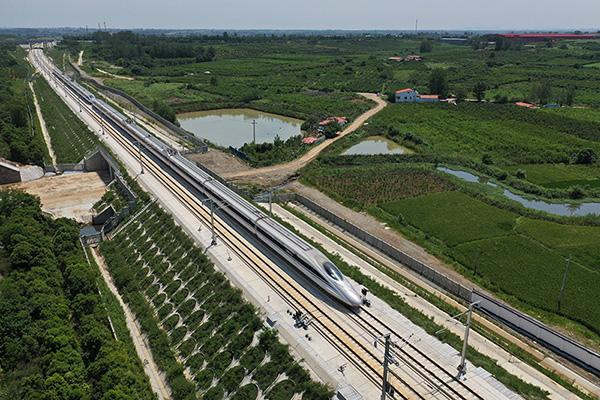 漢十高鐵試跑 最高時速387公裏
