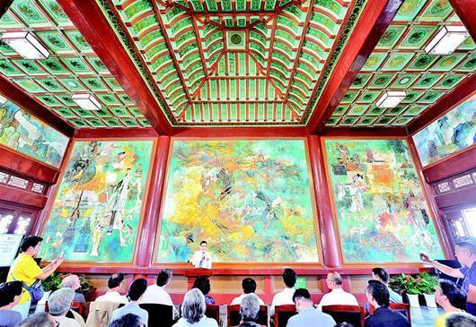 黃鶴樓壁畫修復完成 中秋節與遊客見面