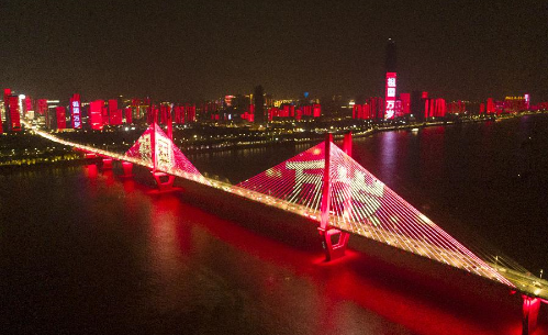 武漢:美麗夜景迎國慶