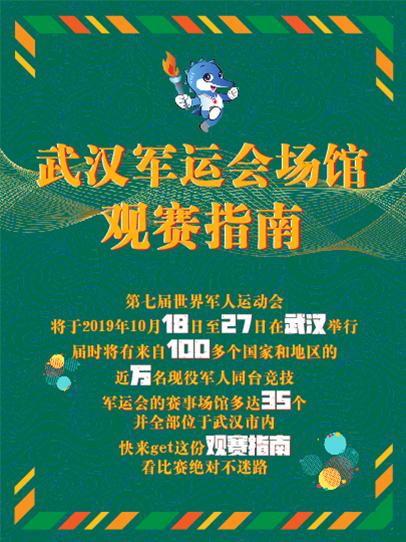 武漢軍運會場館(guan)觀賽指南(nan)