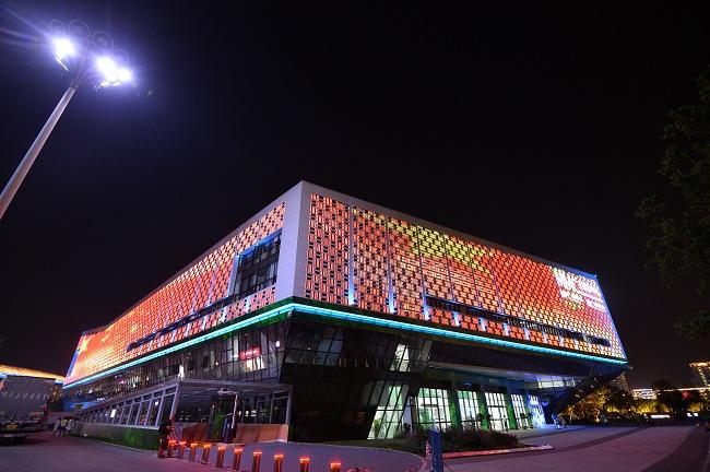 武漢軍運會主媒體中心正式整體投入使用