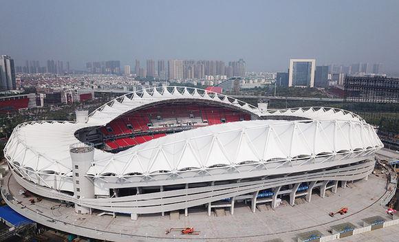 鳥瞰武漢體育中心 炫美如大地桂冠