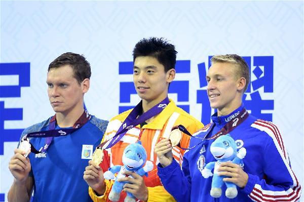 遊泳——男子800米自由泳:中國選手季新傑獲得金牌
