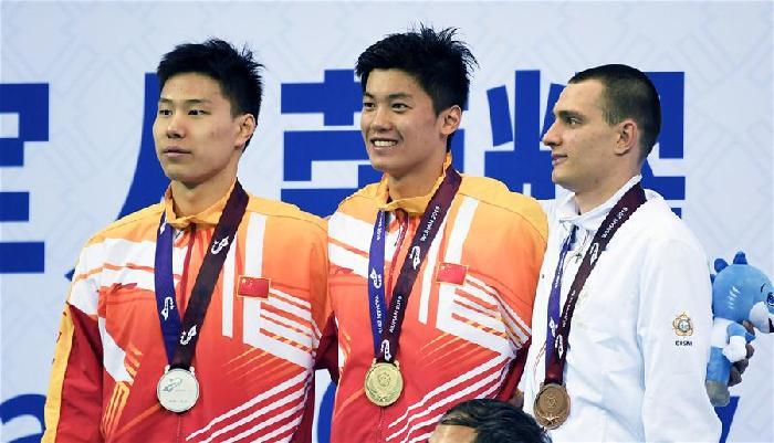 遊泳——男子400米個人混合泳:中國隊包攬冠亞軍