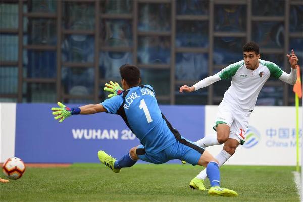 足球——男子銅牌賽:阿爾及利亞隊獲得季軍