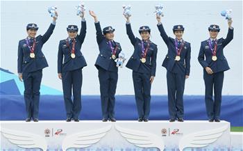 跳傘——女子國家團體頒獎儀式舉行