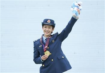 跳傘——女子青年個人全能頒獎儀式舉行