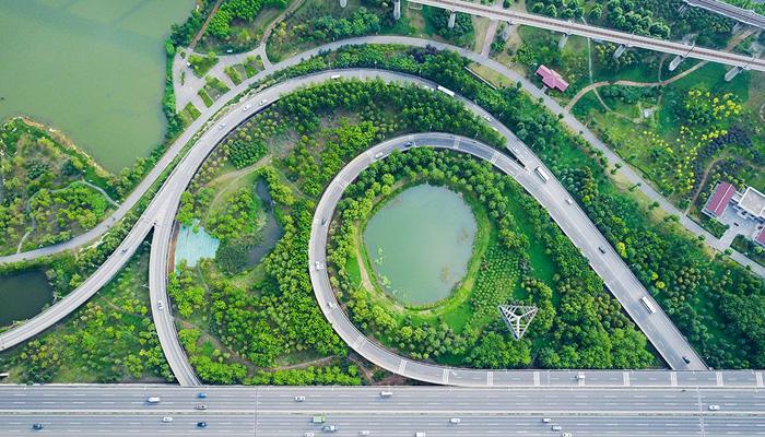 """航拍戴家湖公園 武漢青山的一塊(kuai)""""綠肺(fei)"""""""