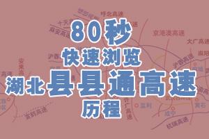 80秒快速瀏覽湖北縣縣通高速歷程
