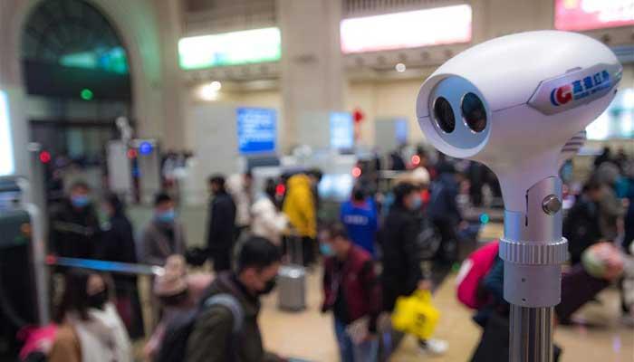 武漢:漢口火車站加強疫情監控