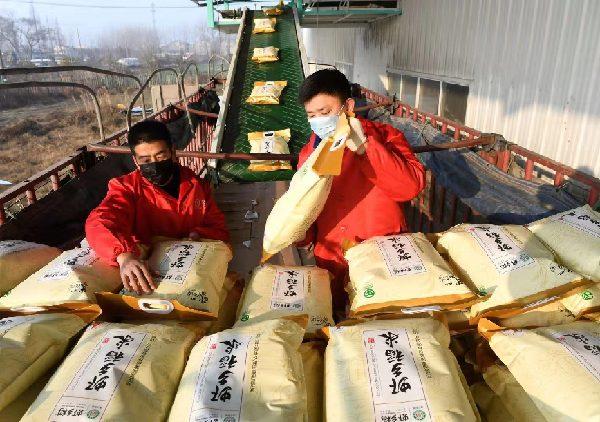 潛江向武漢馳援10萬只口罩5噸蝦稻米