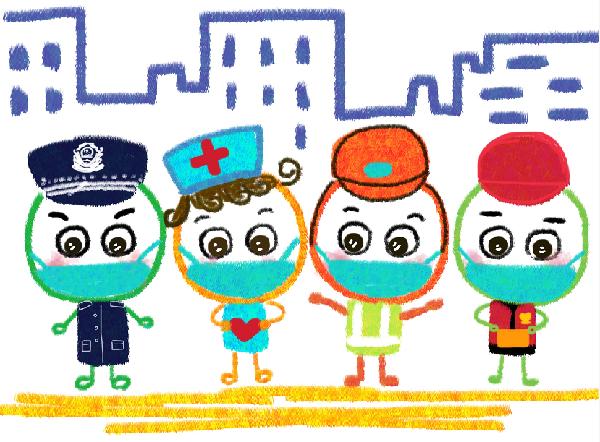"""武漢幼師用漫畫給孩子們講""""抗疫""""故事"""
