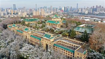 武漢大學雪後如畫