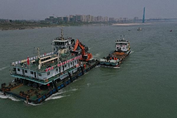 疫情期間,長江航道一線維護疏浚不停工