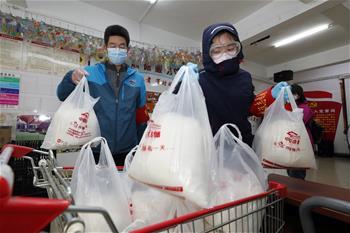 武漢(han)︰社區商家齊心(xin)保障市(shi)民生活必需物資
