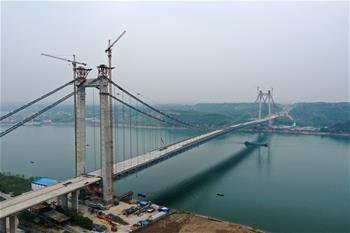 湖北宜(yi)昌︰白洋長江公(gong)路大橋建設有序推進