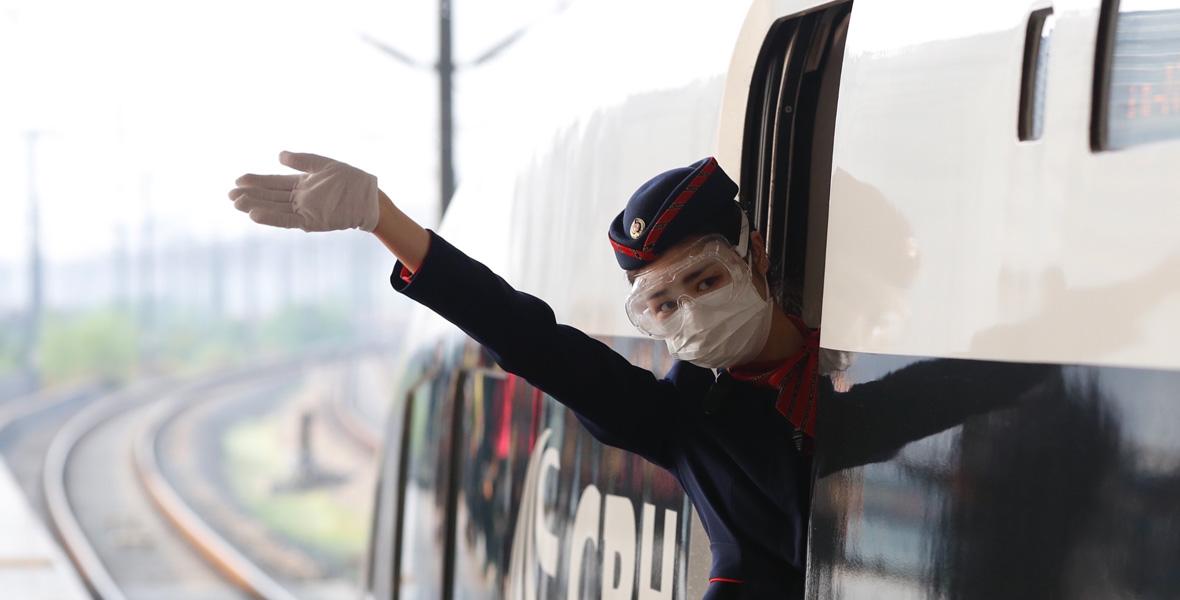 """武漢開出""""解封""""後開往湖北省外的首趟始發列車"""