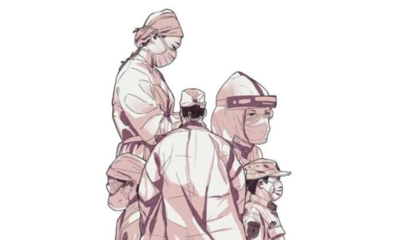 """快舟(zhou)火箭將發""""武漢號""""衛星 箭體印(yin)醫(yi)護群像"""