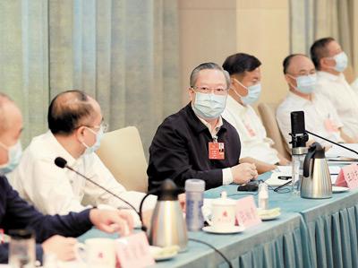 湖北代表團審查計劃報告和預算報告 王曉東參加審議