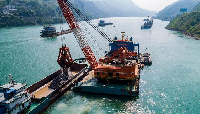 三峽兩壩間航道治理加緊施工