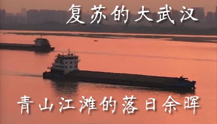 復蘇的大武漢——青山江灘的落日余暉