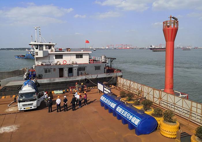 長江幹線船舶水污染物可實現全鏈條監管全上岸處置