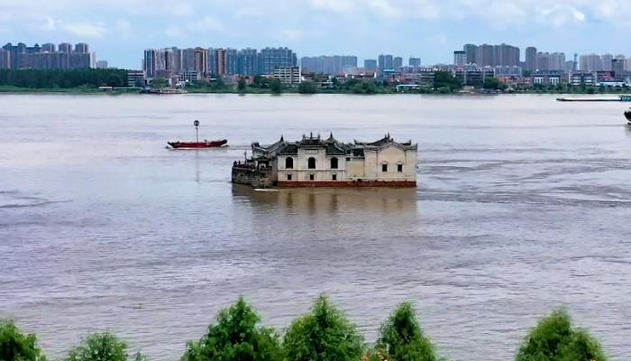 航拍觀音閣丨水上閣樓
