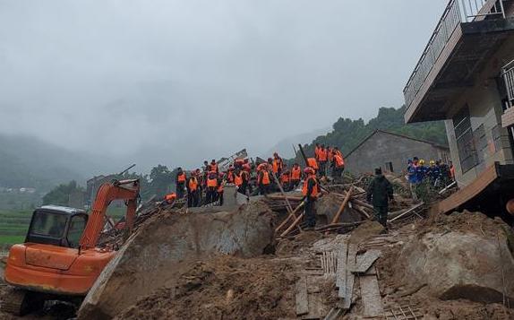 湖北黃梅一山體滑坡9人被埋