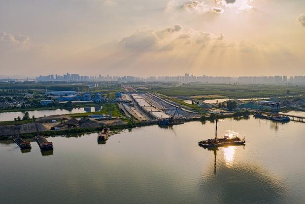 30秒俯瞰建設中的漢江首條過江隧道