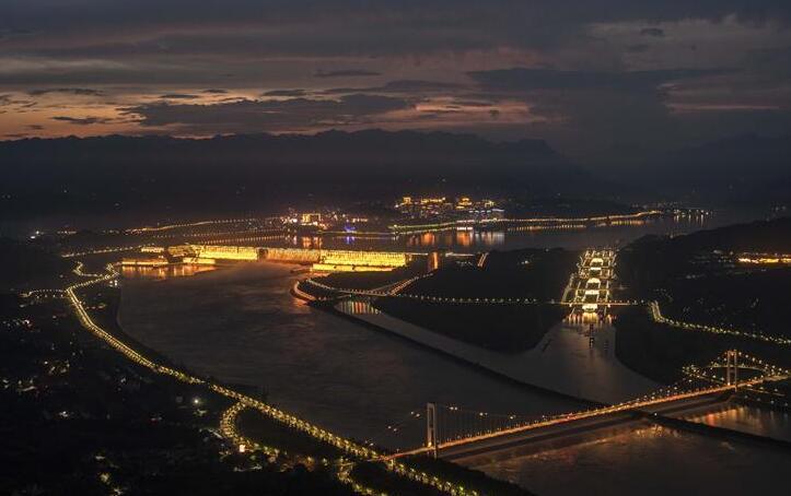 三峽工程夜色美