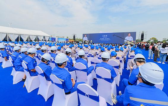 武漢綠地天河國際會展城開建 預計總投資500億元